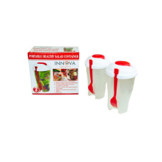 Red 2 Pack Salad Container Set