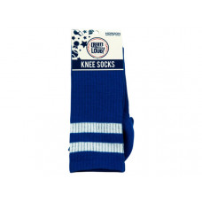 Create Out Loud Blue and White Knee Socks
