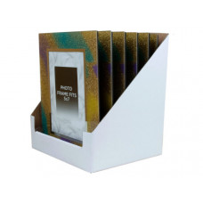 5x7 Rainbow Glitter Picture Frame