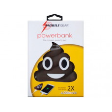 4000 Mah Poop Emoticon Powerbank with Charging Cable