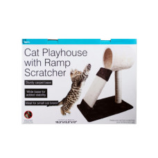 Cat Playhouse with Ramp Scratcher