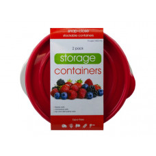 2 Pack Plastic Round Food Container