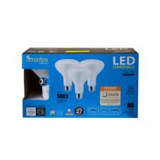 3 Pack 11 Watt LED Dimmable Soft White Floodlamp Light Bulbs