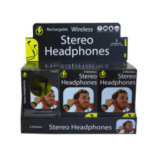 Wireless Bluetooth Stereo Earbuds Countertop Display