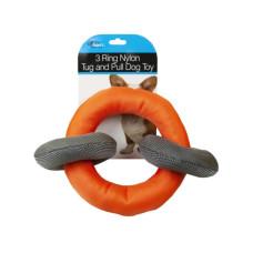 3 Ring Nylon Tug and Pull Dog Toy