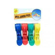 4 Piece Jumbo Plastic Peg