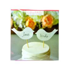 Birch Love Birds Cake Topper