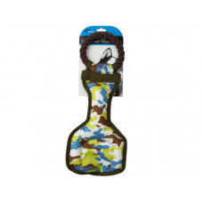 Camouflage Dog Tug Toy with Rope Handle