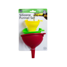 3 pack silicone funnel set