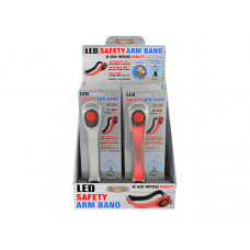 led safety adjustable armband in countertop display assorted