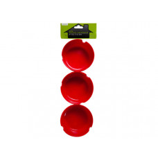 3 pack ashtrays in assorted colors
