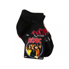 acdc 5 pack infant 12-24m no-show socks