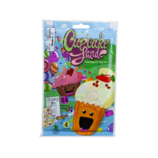 cupcake land 24 page coloring pouch with crayons and sticker