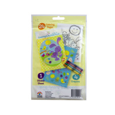 spring into easter 24 page coloring pouch with crayons and s