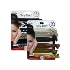mia beauty 6 piece tony ties in assorted colors and patterns