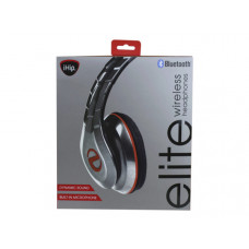ihip elite red & silver bluetooth over the ear headphones