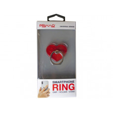 primo universal red heart glitter smartphone ring