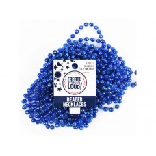8 Pack Blue Beaded Party Necklaces