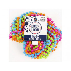 8 Pack Multi-Color Neon Beaded Party Necklaces
