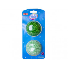 liv-it clean! 2 pack sparkling scourers in assorted colors