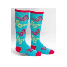 sock it to me junior knee butterflies socks