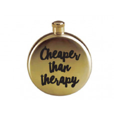 cheaper than therapy 3 oz gold flask