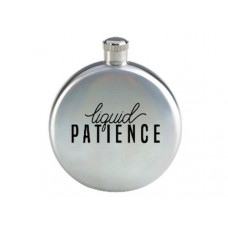 Liquid Patience 3oz Silver Flask