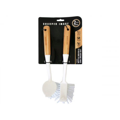 sharper image bottle brush and sink brush set