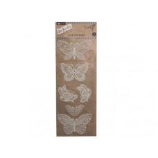 butterfly lace sticker
