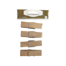 four pack wood clothespins