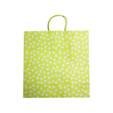 Large Green Gift Bag With White Polka Dots