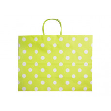 Large Green Gift Bag With Printed Squares