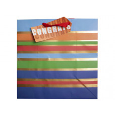Large Striped Congrats Gift Bag