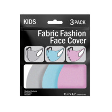3 Piece Kid's Washable Face Masks Asst Colors