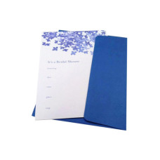 10ct blue hydrangea invitation set