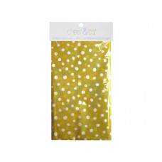 20 count gift wrap tissue paper in yellow with white dots