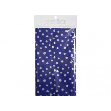 20 count gift wrap tissue paper in purple with white dots