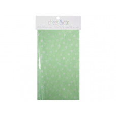 20 count gift wrap tissue paper in mint with white dots
