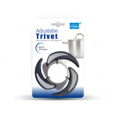 adjustable heat resistant trivet pot holder in assorted colo