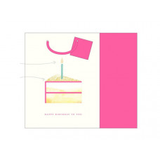 Candle Cake Gift Bag W/Tissue