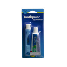 Travel Toothbrush and .85 oz Crest Toothpaste Kit