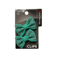 2 Count Studded Bow Salon Hair Clips