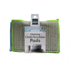 2 piece kitchen cleaning cloth/scrubbers