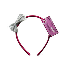 Removable Bow Pink Head Band