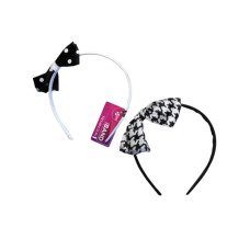 1 Count Polka Dot Bow Head Band in Assorted Colors
