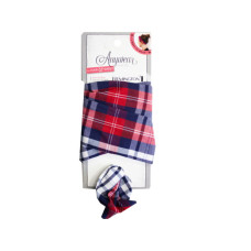 1 Count Wire Head Scarf in Assorted Plaid