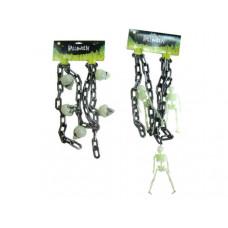plastic halloween chain with skeleton