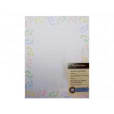 multi colored baby feet stationery 50 sheets