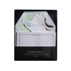 12 Count Green Marble Thank You Card Set
