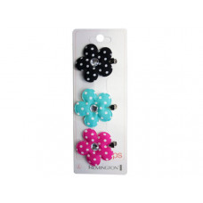 3 Count Flower Salon Clips with Gems